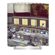 Gemini Mission Control Shower Curtain by Nasa/Science Source