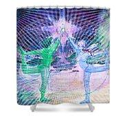Gemini Moon Mandala Shower Curtain