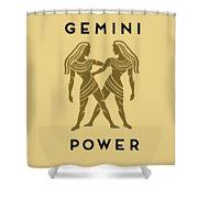 Gemini Power Shower Curtain by Judy Hall-Folde
