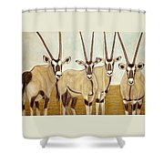 Gemsboks Or 0ryxs Triptych Shower Curtain