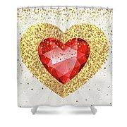 Gemstone - 1 Shower Curtain