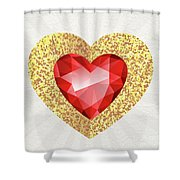 Gemstone - 2 Shower Curtain