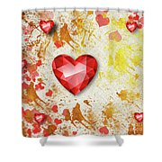 Gemstone - 7 Shower Curtain
