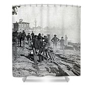 Gen Shermans Troops Destroying Railroad Before The Evacuation Of Atlanta - C 1864 Shower Curtain