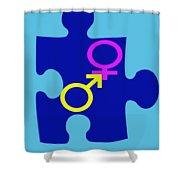 Gender Conundrum Shower Curtain