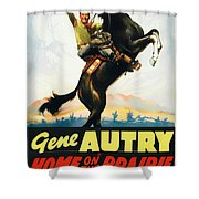 Gene Autry In Home On The Prairie 1939 Shower Curtain