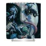 Gene Simmons House Of Horrors Shower Curtain