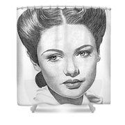 Gene Tierney Shower Curtain