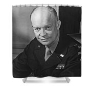 General Dwight Eisenhower Shower Curtain by War Is Hell Store