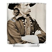 General George Custer Shower Curtain