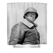 General George S. Patton Shower Curtain by War Is Hell Store
