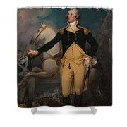 General George Washington At Trenton Shower Curtain