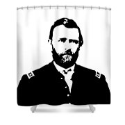 General Grant Black And White  Shower Curtain