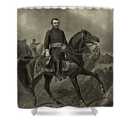 General Grant On Horseback  Shower Curtain