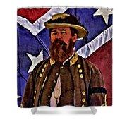 General Jeb Stuart Of Vmi Shower Curtain