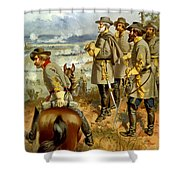General Lee At The Battle Of Fredericksburg Shower Curtain by War Is Hell Store