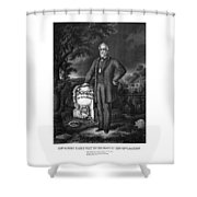General Lee Visits The Grave Of Stonewall Jackson Shower Curtain