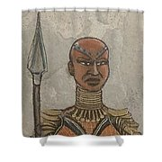 General Okoye Of The Wakandian Elite Forces   Shower Curtain