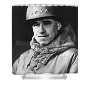 General Omar Bradley Shower Curtain by War Is Hell Store