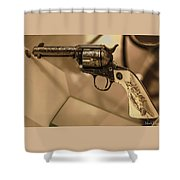 General Patton's Model 1873 Colt 45 Revolver  Shower Curtain