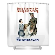 General Pershing - Buy War Saving Stamps Shower Curtain