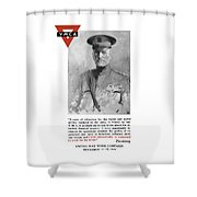General Pershing - United War Works Campaign Shower Curtain