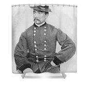 General Sheridan Civil War Portrait Shower Curtain