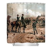 General Sherman Observing The Siege Of Atlanta Shower Curtain
