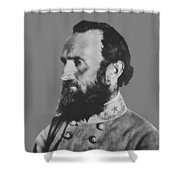 General Stonewall Jackson Profile Shower Curtain