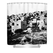 General View Of Bethlehem 1800s Shower Curtain
