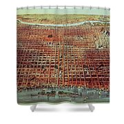 General View Of Philadelphia Shower Curtain