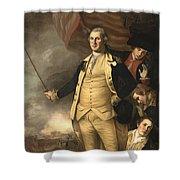 General Washington At The Battle Of Princeton Shower Curtain
