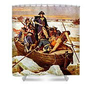 General Washington Crossing The Delaware River Shower Curtain by War Is Hell Store