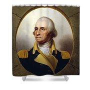 General Washington - Porthole Portrait  Shower Curtain