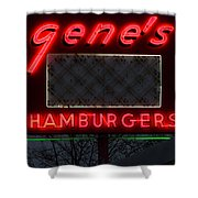 Gene's Hamburgers  Shower Curtain