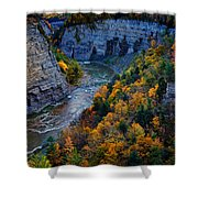 Genesee River Gorge II Shower Curtain