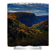 Genesee River Gorge Shower Curtain