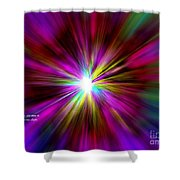 Genesis 1 Verse 3 Shower Curtain