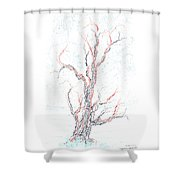 Genetic Branches Shower Curtain