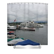 Geneva Lake Shower Curtain