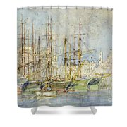 Genoese Shipping Shower Curtain