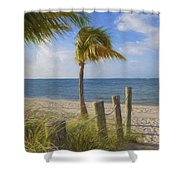 Gentle Breeze At The Beach Shower Curtain