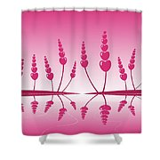 Gentle Hearts Shower Curtain