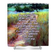 Gentle Journey With Bible Verse Shower Curtain