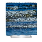 Gentle Roll Of The Waves Shower Curtain