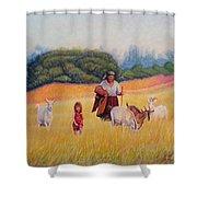 Gentle Shepherdess Shower Curtain