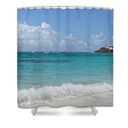 Gentle Wave On Dawn Beach Shower Curtain