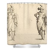 Gentleman Viewed From The Front With Hand On Hip Shower Curtain