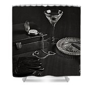Gentleman's Pause In Monochrome Shower Curtain