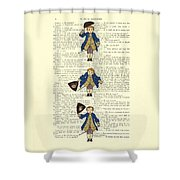 Gentlemen Taking A Bow Dressed As Napoleon Bonaparte Shower Curtain